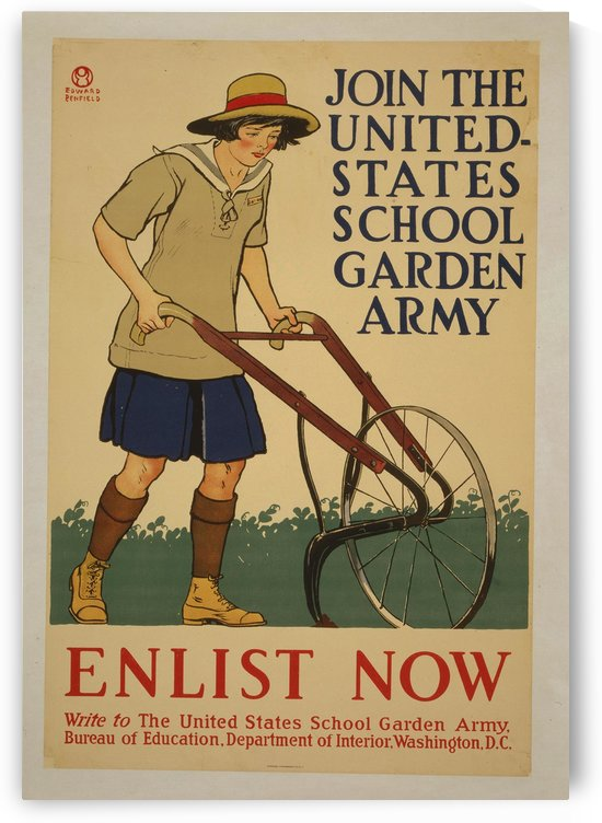 Join the United States School Garden Army by VINTAGE POSTER