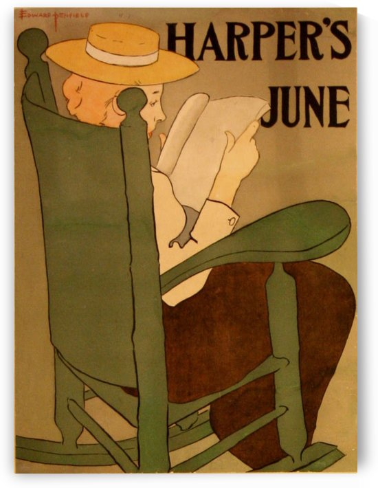 Harpers June by VINTAGE POSTER