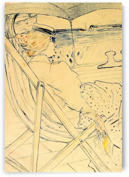 The traveller by Toulouse-Lautrec by Toulouse-Lautrec