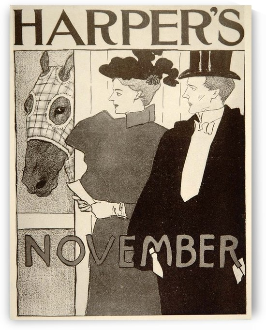Harpers Horse Stall Edward Penfield Mini Poster by VINTAGE POSTER