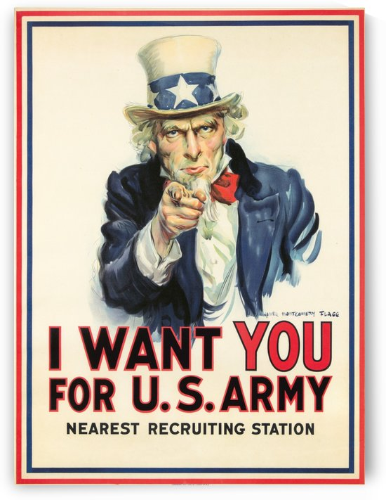 I Want You, 1917 by VINTAGE POSTER