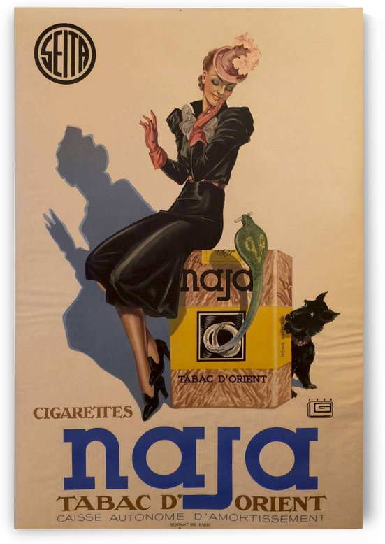 Advertisement Poster for Naja by Lelong, 1939 by VINTAGE POSTER