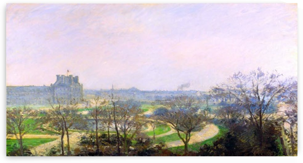 The Tuileries by Pissarro by Pissarro