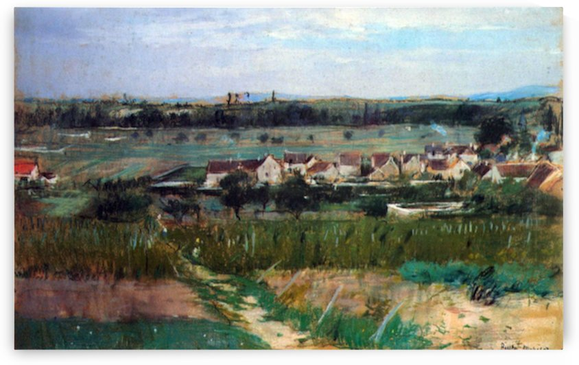 The village at Maurecourt by Morisot by Morisot