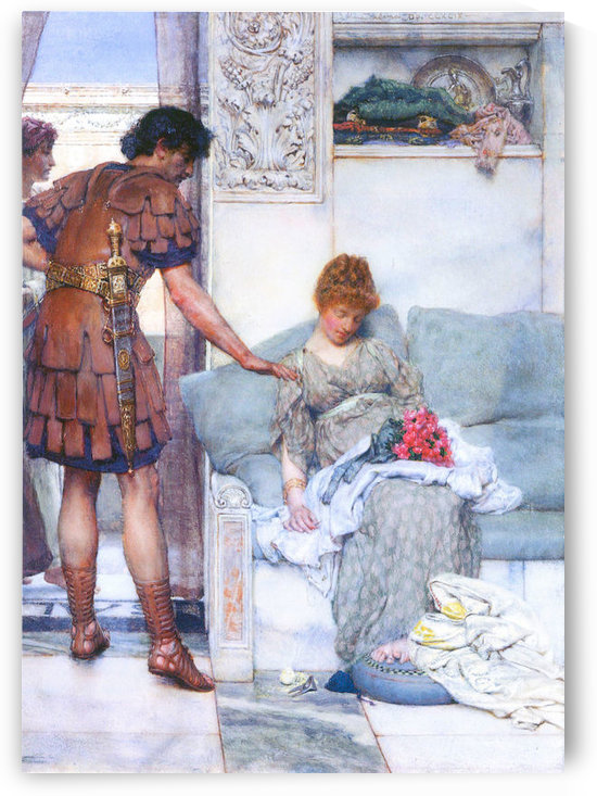 A quiet greeting by Alma-Tadema by Alma-Tadema