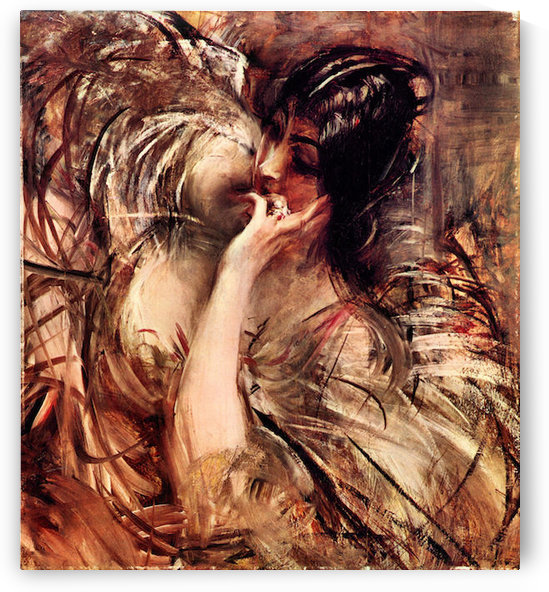 The blouse of Voile by Giovanni Boldini by Giovanni Boldini