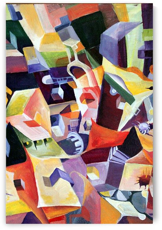 Dynamic Cubism Linear by Nisuris Art