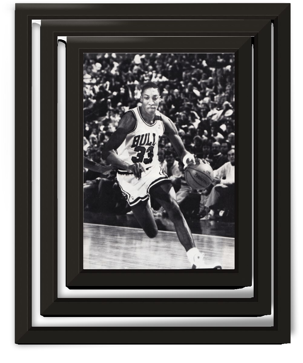 1988 Chicago Bulls Scottie Pippen Poster by Row One Brand