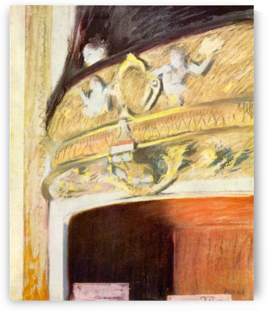 Theater Loge by Degas by Degas