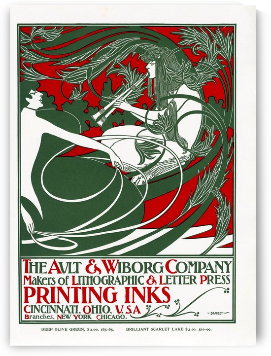 Will Bradley Ault and Wiborg Poster 1895 by VINTAGE POSTER