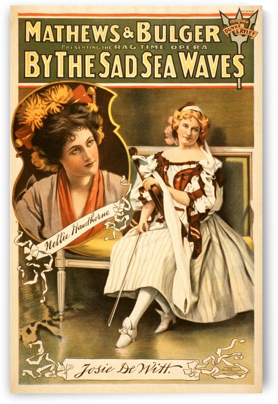 By the sad sea waves, Broadway poster, 1898 by VINTAGE POSTER