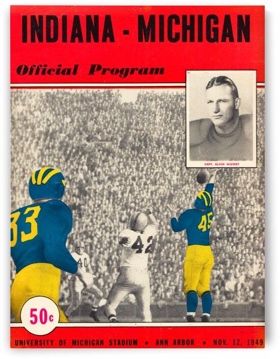 1949 Indiana vs. Michigan Football Program Cover Art by Row One Brand