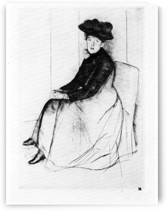Thoughtfully by Cassatt by Cassatt