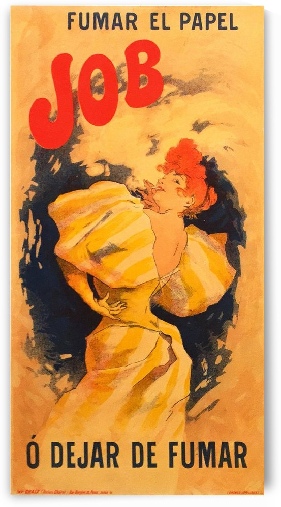 French Belle Epoque Period Poster for Job by Jules Cheret, 1895 by VINTAGE POSTER