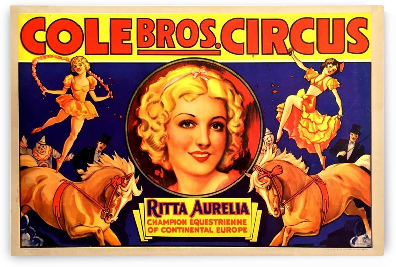 American Circus Poster by VINTAGE POSTER
