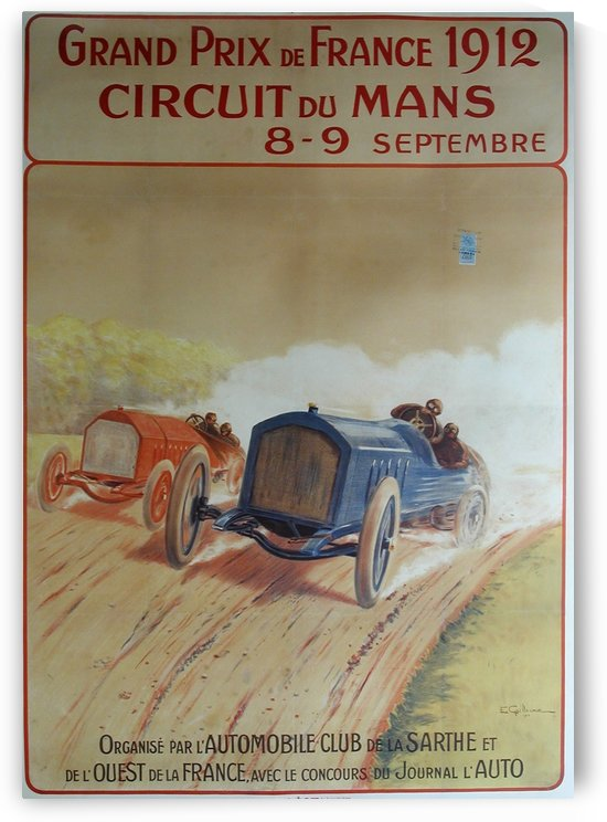 Grand Prix de France 1912 Original Poster by VINTAGE POSTER