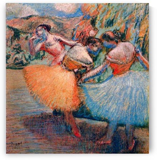 Three dancers 1 by Degas by Degas