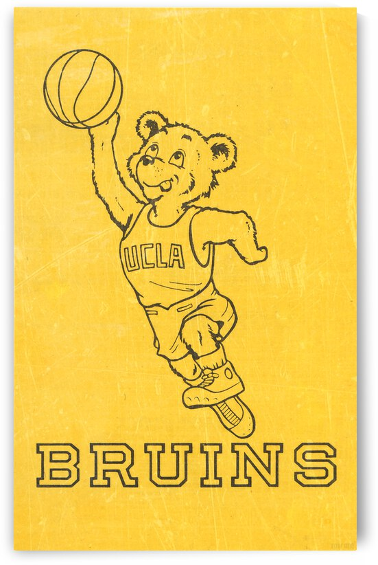 1974 UCLA Bruins Basketball Poster by Row One Brand