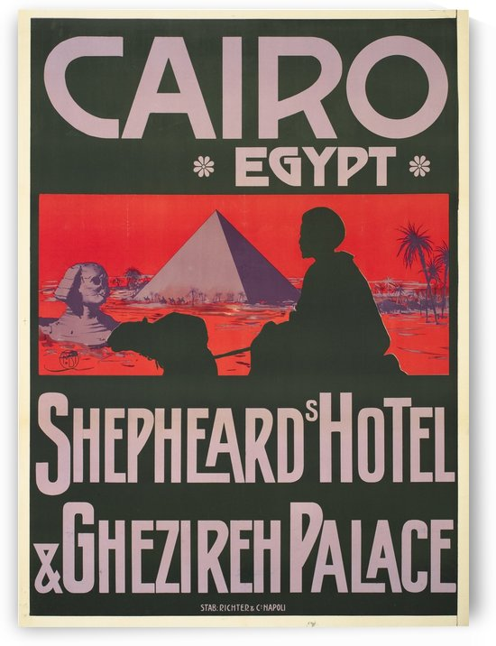 Shepheards Hotel, Cairo, Egypt by VINTAGE POSTER