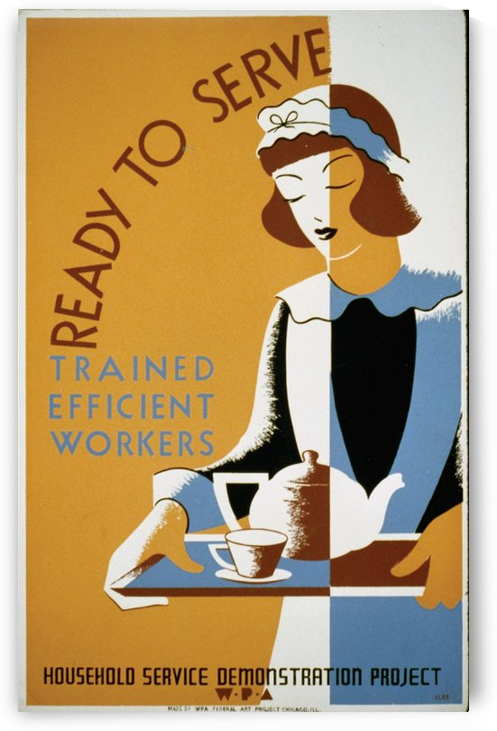 Ready to serve by VINTAGE POSTER