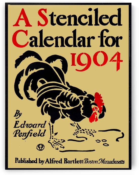 A stenciled calendar for 1904 by VINTAGE POSTER