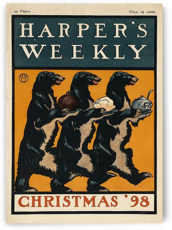 Harpers weekly, Christmas 1898 by VINTAGE POSTER