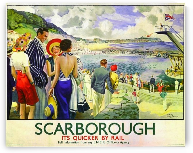 Scarborough Railway Poster 1930 by VINTAGE POSTER