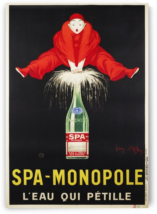 Spa-Monopole - Leau qui petille by VINTAGE POSTER