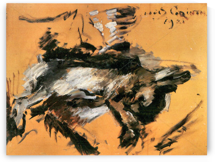 The hare by Lovis Corinth by Lovis Corinth