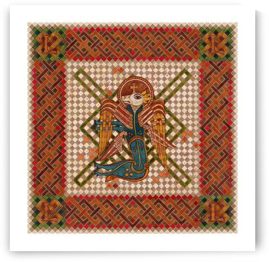 The 4 Evangelist Symbols - inspired by the Book of Kells. Luke. by Dobri Gjurkov