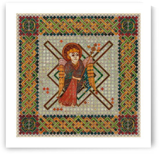 The 4 Evangelist Symbols - inspired by the Book of Kells. Matthew. by Dobri Gjurkov