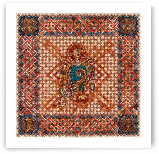 The 4 Evangelist Symbols - inspired by the Book of Kells. John.  by Dobri Gjurkov