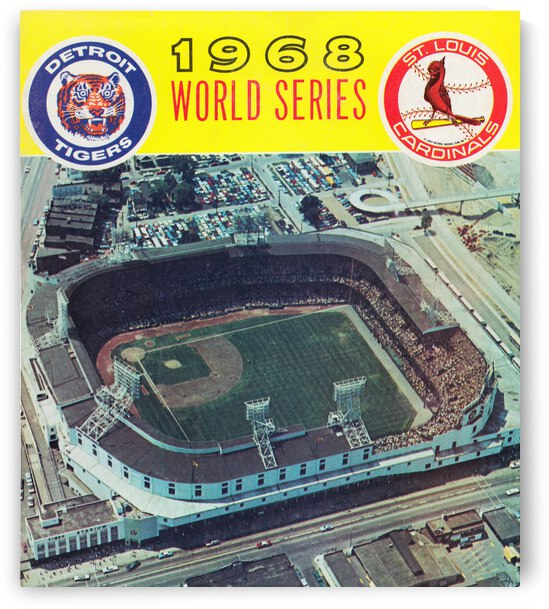 1968 World Series Tigers vs. Cardinals Poster by Row One Brand