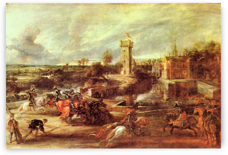 Tournament at a castle by Rubens by Rubens