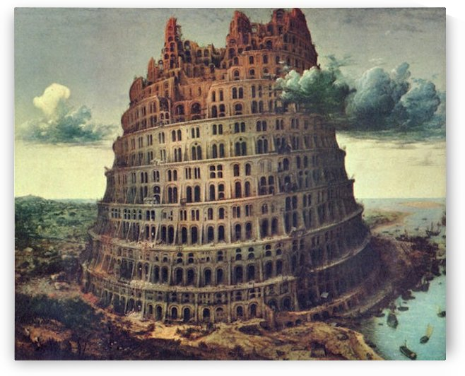 Tower of Babel -1- by Pieter Bruegel by Pieter Bruegel