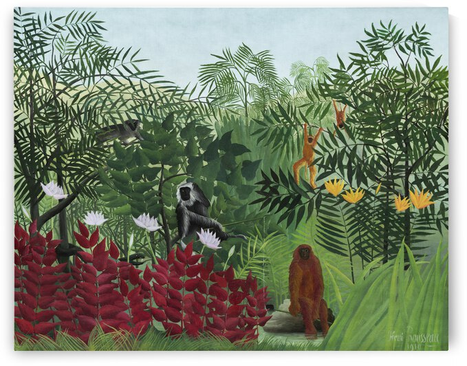 Henri Rousseau Tropical Forest with Monkeys 1910 by TOPARTGALLERY