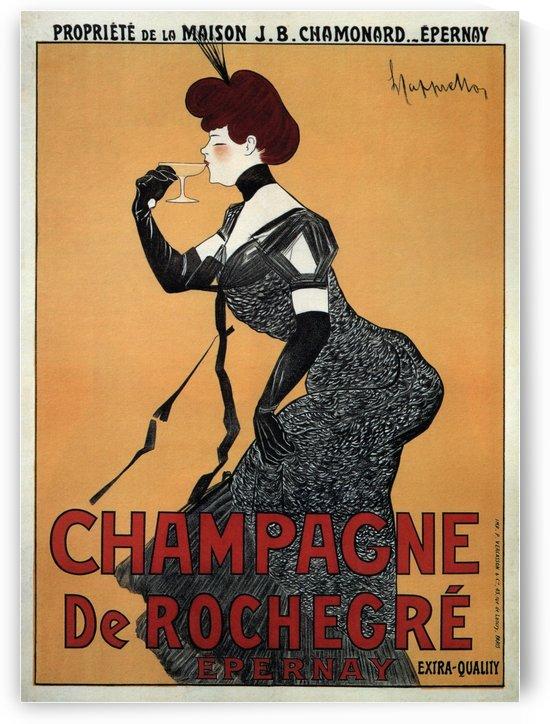 Champagne De Rochegre Leonetto Cappiello 1910 by VINTAGE POSTER