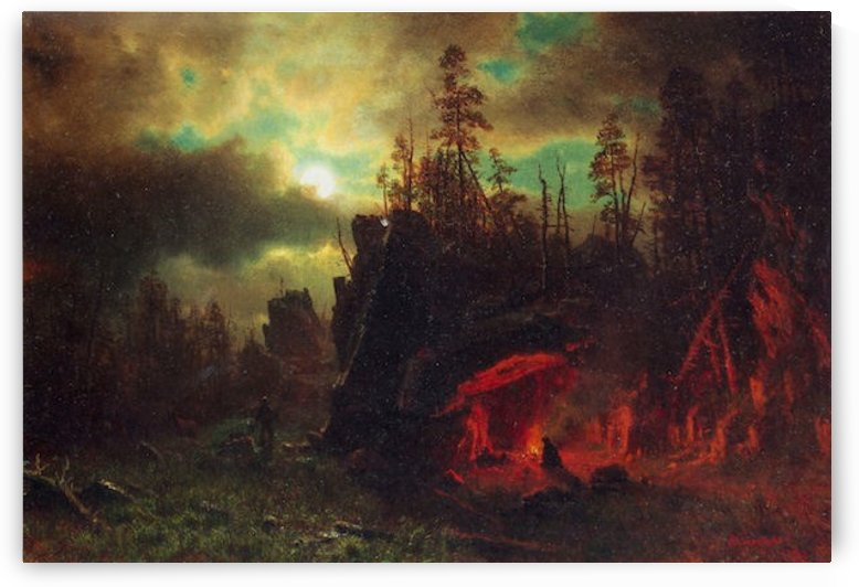 Trapper s camp by Bierstadt by Bierstadt