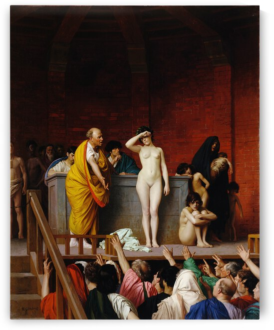 Jean Leon Gerome Slave Market in Ancient Rome  1884  by TOPARTGALLERY