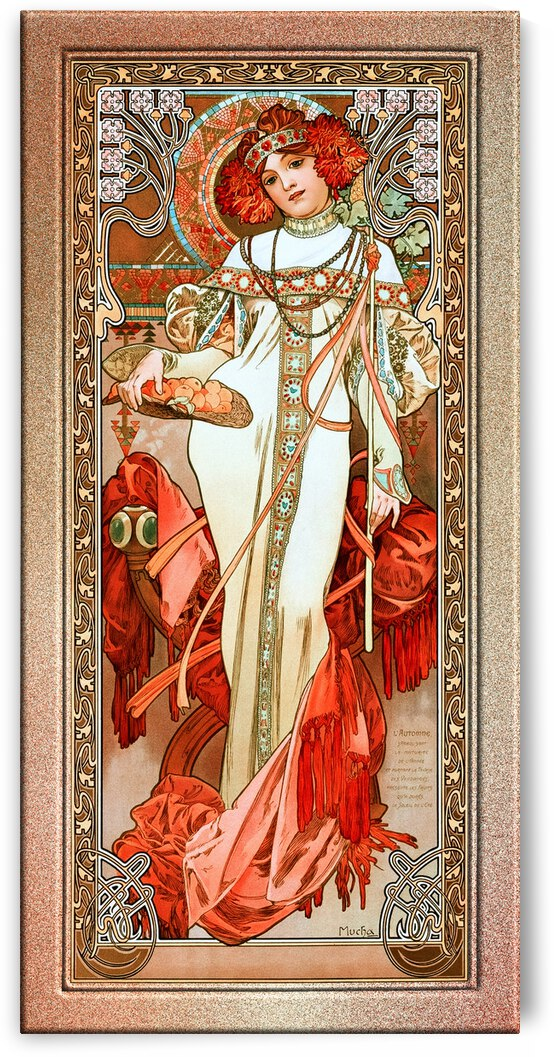 LAutomne by Alphonse Mucha Old Masters Reproduction by xzendor7