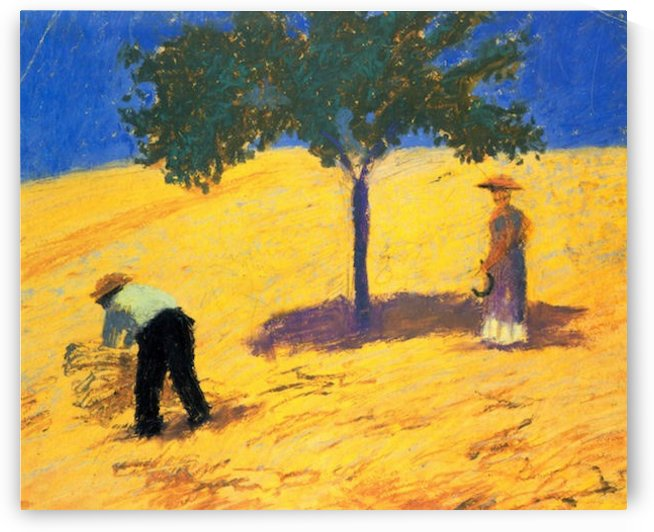 Tree in Cornfeld by Macke by Macke