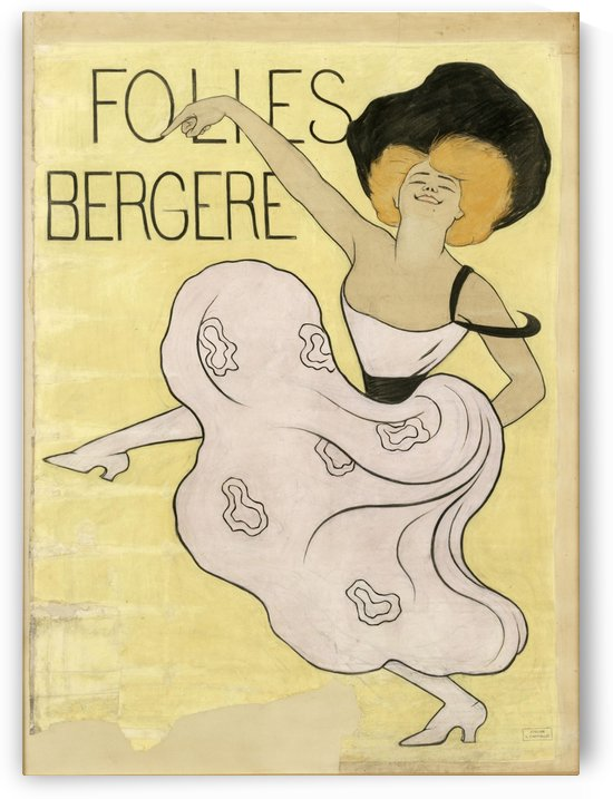 Folies Bergere 1900 Poster by VINTAGE POSTER