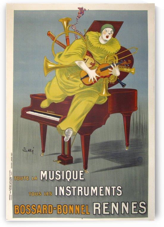 Musique Instruments Rennes Lotti Art Deco Original Stone Lithograph Vintage Poster by VINTAGE POSTER