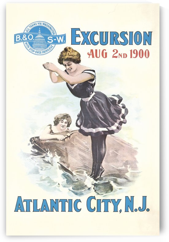 Excursion to Atlantic City Original Poster by VINTAGE POSTER