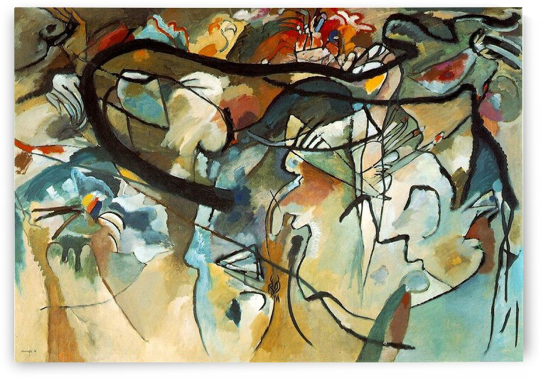 kandinsky composition V 1911.v1 by TOPARTGALLERY