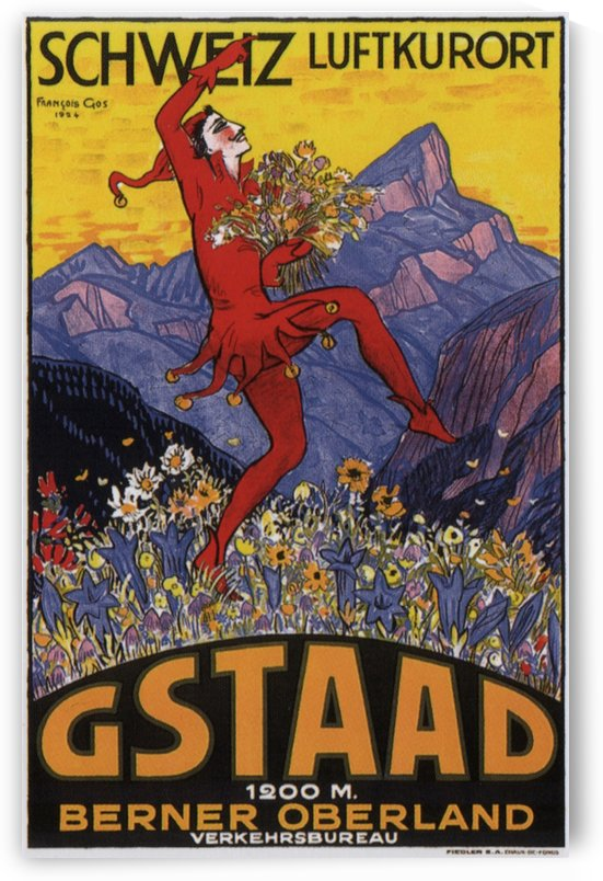 Gstaad Vintage Poster 1924 by VINTAGE POSTER