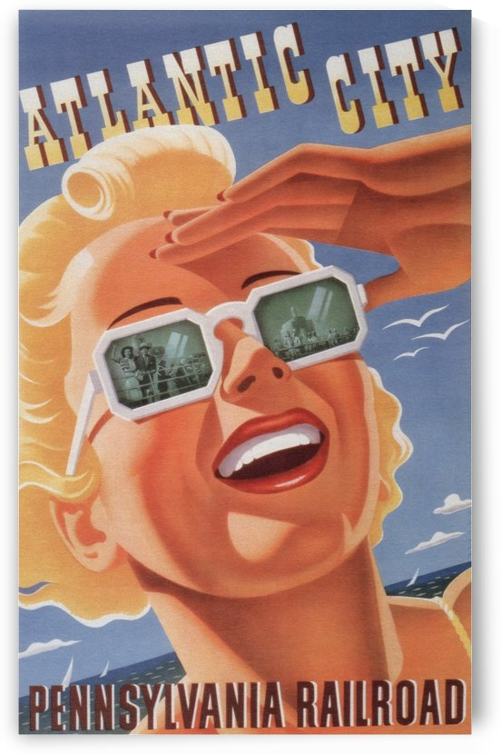 Atlantic City Pennsylvania Railroad Original Poster by VINTAGE POSTER