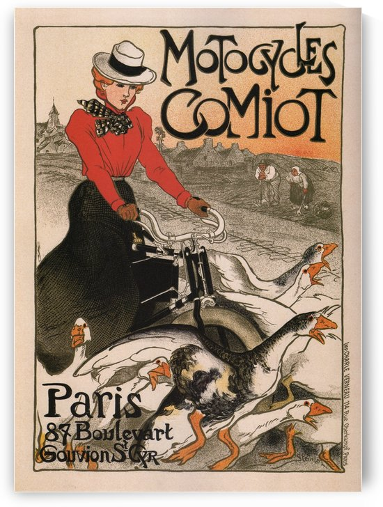 Motorcycles Comiot Vintage Poster by VINTAGE POSTER