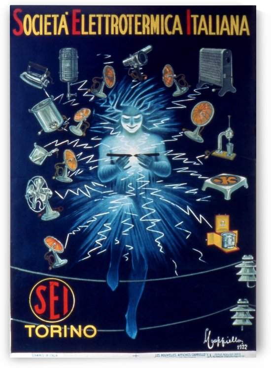 Societa Electtrotermica Italiana by VINTAGE POSTER