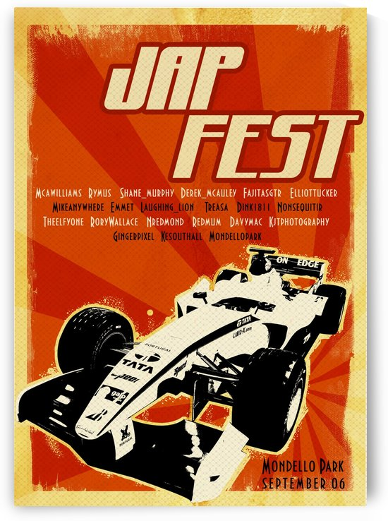 Japfest At Mondello Park by VINTAGE POSTER